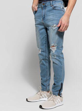 Jeans Destroyed Frontal JJO,Azul Eléctrico,hi-res