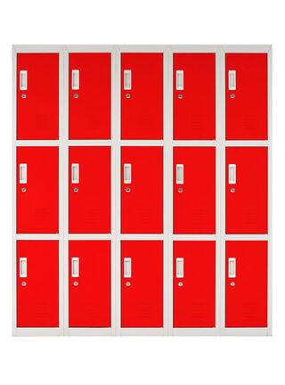 Locker Office Llaves Rojo 15 Puertas 140x50x166 cm Maletek,,hi-res