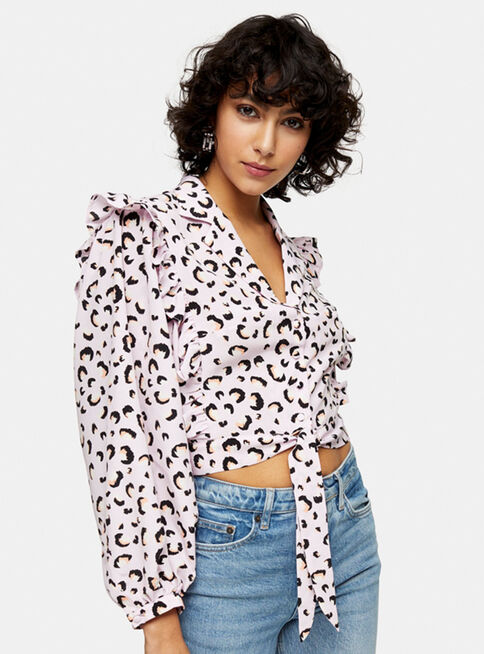 Blusa%20Pink%20Animal%20Print%20Frill%20Topshop%2C%C3%9Anico%20Color%2Chi-res