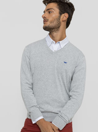 Sweater Melange Bussines Ferouch,Gris,hi-res