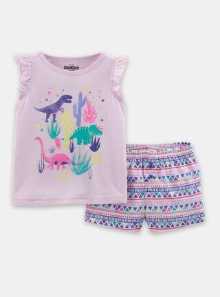 Pijama 2 Piezas Niña 2 A 4 Años OshKosh B'Gosh,Guinda,hi-res