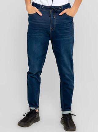 Jeans Tapered Knit Denim JJO,Azul Oscuro,hi-res