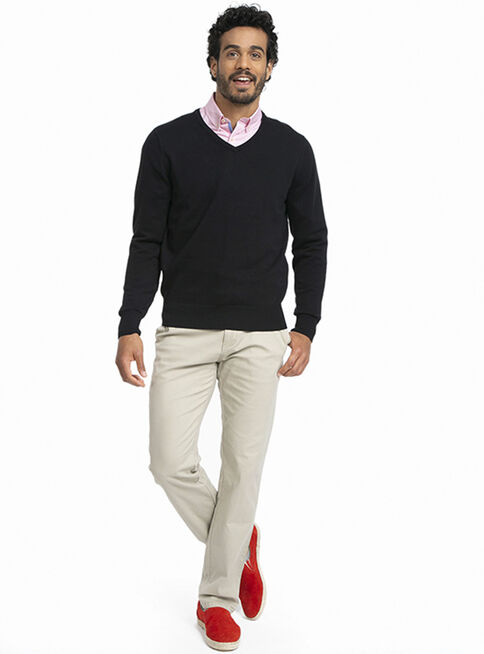 Sweater%20Cl%C3%A1sico%20Melange%20Cuello%20V%20Arrow%2CNegro%2Chi-res