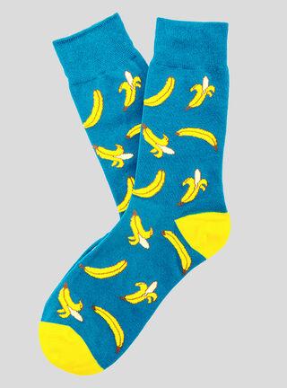 Calcetín Plátanos Socks Lab,Verde Militar,hi-res