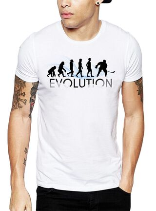 Polera Evolution Hockey Get Out,Blanco,hi-res