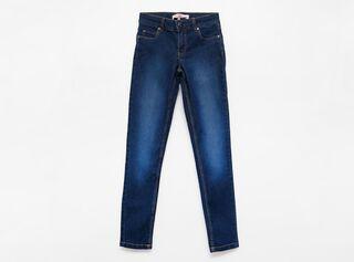 Jeans Melt Tiro Alto Focalizado Niña,Azul Oscuro,hi-res