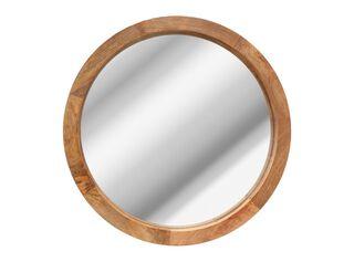 Espejo Redondo Madera Alaniz Home 60 cm,Único Color,hi-res