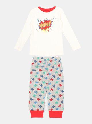 Pijama Tribu Estampado Niño,Marfil,hi-res