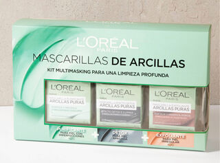 Pack 3 Mascarillas de Arcillas L'Oréal,,hi-res