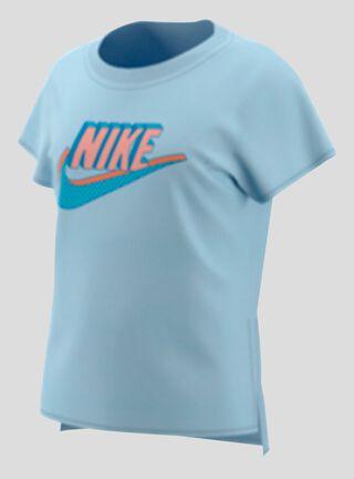 Polera Nike Logotipo Estampado Niña,Celeste,hi-res