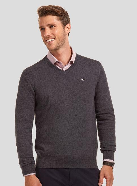 Sweater%20B%C3%A1sico%20Cuello%20V%20Ferouch%2CNegro%2Chi-res