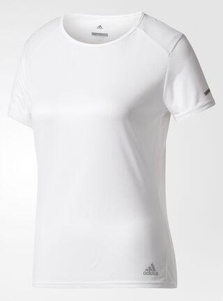 Polera Adidas Mujer Run Blanca,Blanco,hi-res