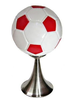 Lámpara de Mesa Attimo Vidrio Futbol Rojo 38 cm,,hi-res