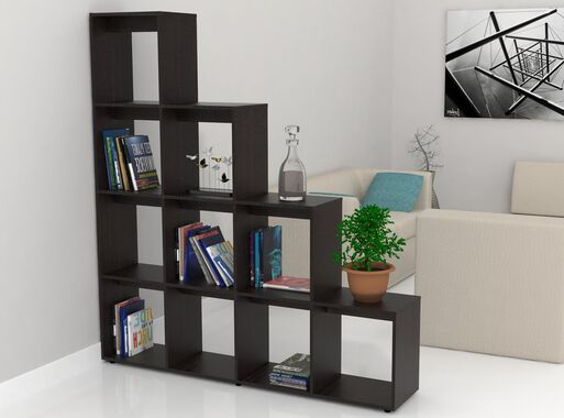 Biblioteca%20Escalera%20Beijing%20TuHome%2CCaf%C3%A9%20Oscuro%2Chi-res