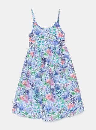 Vestido Tribu Print Floral Niña,Marfil,hi-res