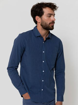 Camisa Slim Lisa Alaniz,Azul Oscuro,hi-res