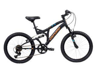Bicicleta MTB Oxford Drako Doble Susp Aro 20,Negro,hi-res