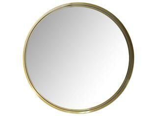 Espejo Gold Redondo Metálico Attimo,,hi-res