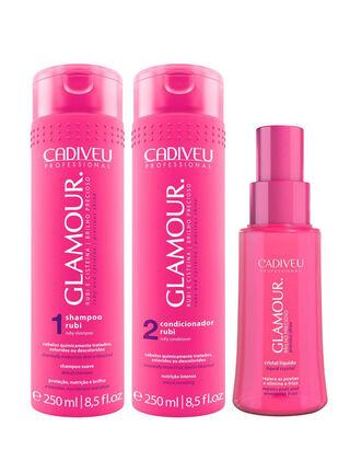 Tratamiento Capilar Pack III Glamour Cristal Liquido Cadiveu,,hi-res