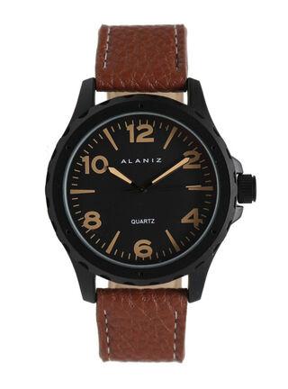 Reloj Análogo Alaniz 16007 Hombre,Café Oscuro,hi-res