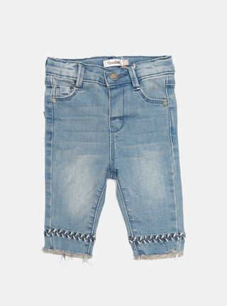 Jeans Opaline Bordado Niña,Azul Eléctrico,hi-res