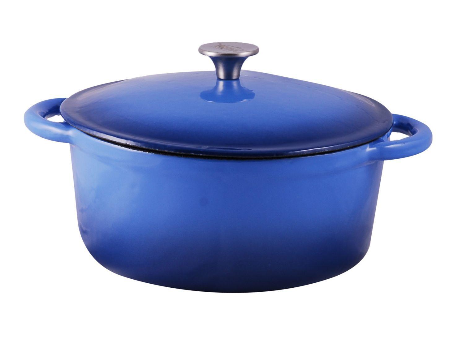 Olla Hierro Fundido 25 Cm Azul Brann
