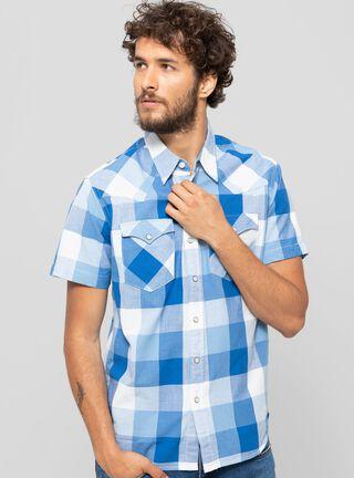 Camisa Manga Corta Cubos Levi's,Azul Petróleo,hi-res
