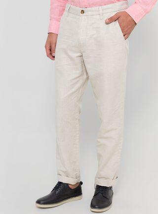 Pantalón Clásico Fit Lino Nautica,Camel,hi-res