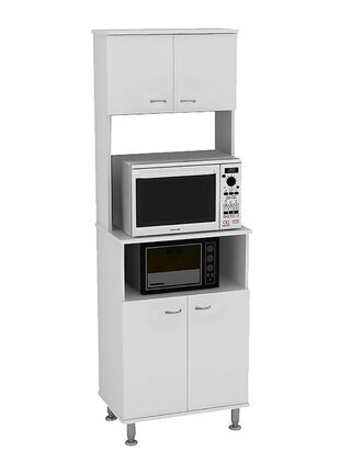 Mueble de Cocina Microondas Kitchen 4 Puertas 54x35x160 cm TuHome,,hi-res