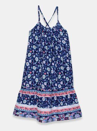 Vestido Tribu Print Tribu Niña,Azul Oscuro,hi-res