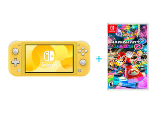 NINTENDO SWITCH LITE YELLOW + JUEGO NINTENDO SWITCH MARIO KART 8 DELUXE