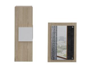 Muebles de Baño: Auxiliar + Espejo TuHome,Crema,hi-res