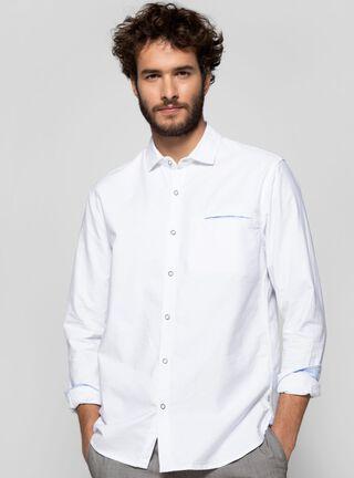 Camisa Lisa Cuello Clásico Alaniz,Blanco,hi-res