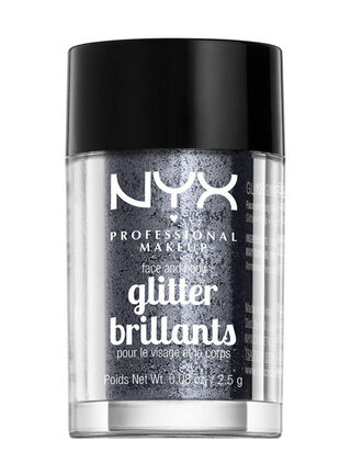 Brillo Facial Face & Body Glitter Gunmetal NYX Professional Makeup,,hi-res