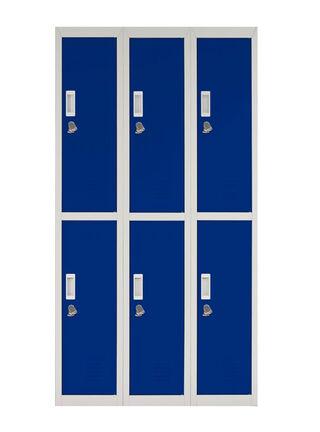 Locker Office Candado Azul 6 Puertas 83x50x166 cm Maletek,,hi-res