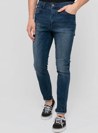 Jeans Focalizado Tiro Medio Ellus,Azul,hi-res