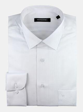 Camisa Slim Fit Largo Manga 34-35 Cuello Bolognia Con Bolsillo Vandine,Marfil,hi-res