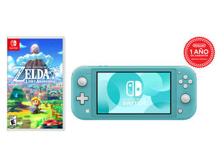 CONSOLA NINTENDO SWITCH LITE TURQUOISE + TLOZ LINKS AWAKENING
