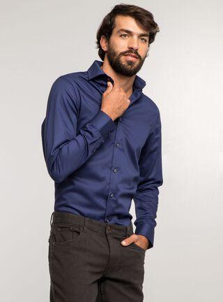 Camisa Vestir Very Slim Perry Ellis Azul,Azul,hi-res