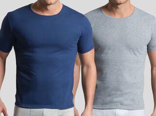 Pack 2 Camiseta Manga Corta Lisa Mota,Azul Petróleo,hi-res