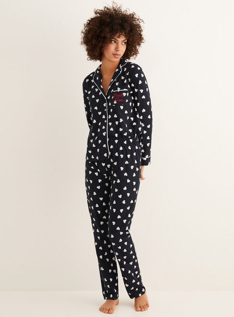 Pijama%20Daily%20Hearts%20Women'Secret%2CNegro%2Chi-res