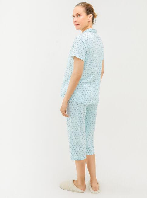 Pijama%20Algod%C3%B3n%20Cuello%20Redondo%20Botones%20Viaressa%2CVerde%20Claro%2Chi-res
