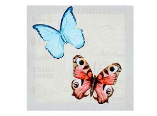 Canvas Mariposa 40 x 40 cm Attimo,Azul,hi-res