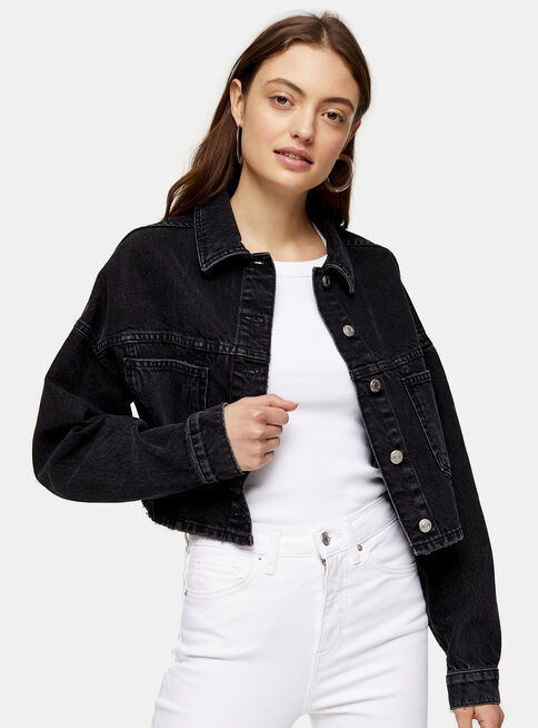Chaqueta%20Washed%20Black%20Cropped%20Denim%20Topshop%2C%C3%9Anico%20Color%2Chi-res