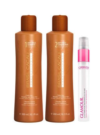 Pack VII Shampoo + Acondicionador + Glamour Termo Rubi Brasil Cacau,,hi-res