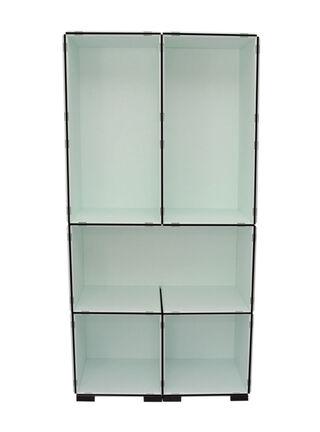 Mueble Modular Set 15 + 6 Piezas Blanco Negro Kab Möbel,,hi-res