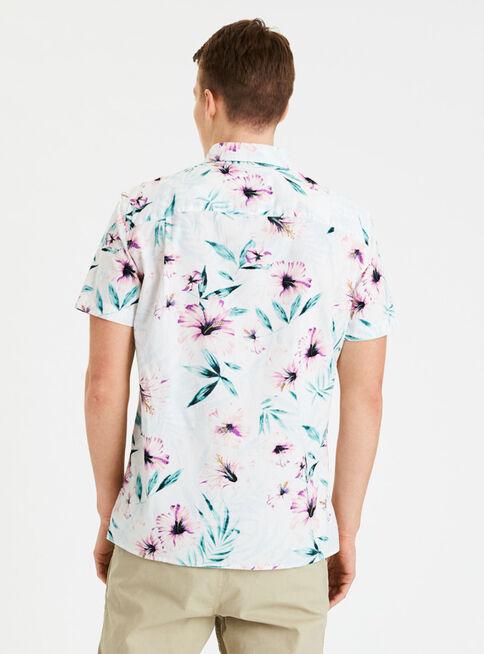 Camisa%20Print%20Manga%20Corta%20Hawaiana%20American%20Eagle%2CBlanco%2Chi-res