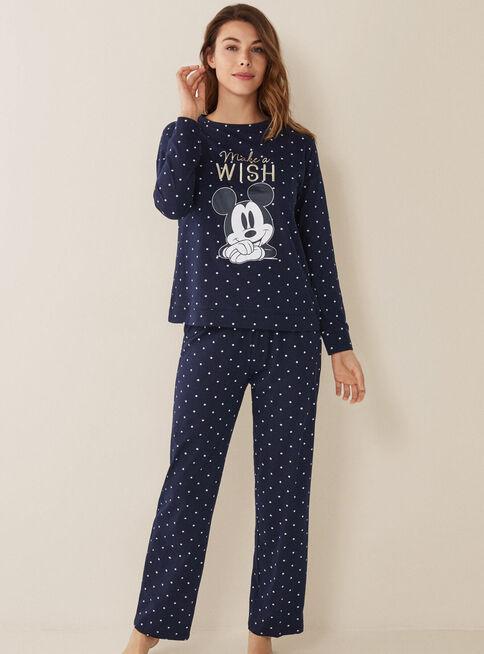Pijama%20Mickey%20%26%20Minnie%20Galaxy%20Women'Secret%2CAzul%20Marino%2Chi-res