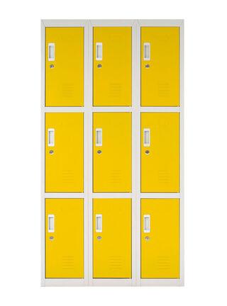 Locker Office con Llaves Amarillo 9 Puertas 83x50x166 cm Maletek,,hi-res
