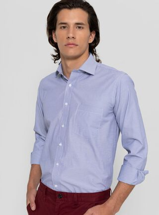 Camisa Slim Lisa Casual Rainforest,Azul Oscuro,hi-res
